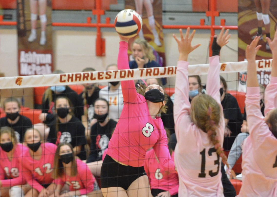 Charleston rallies to sweep Mattoon in Volley for Cure event